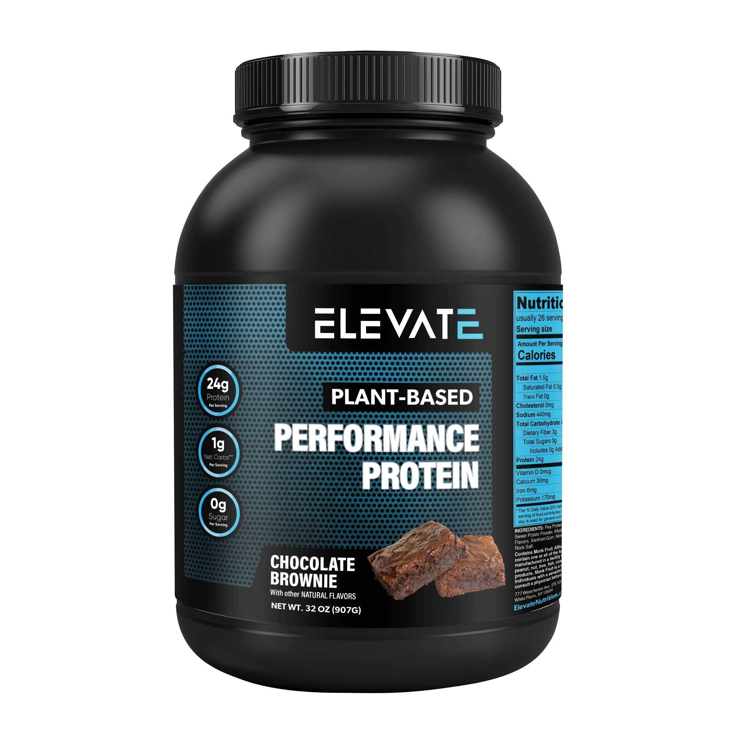 Elevate Nutrition Plant-Based Vegan Performance Protein Powder
